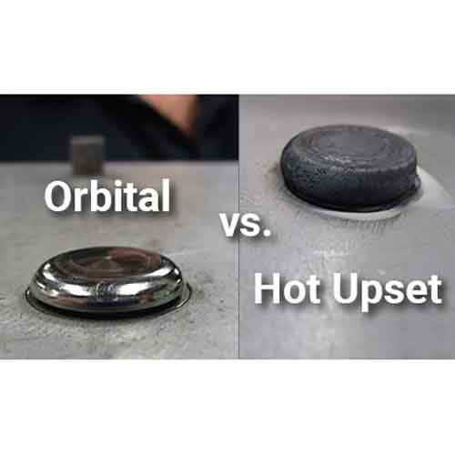 A Test of Strength: Orbital vs. Hot Upset Forming